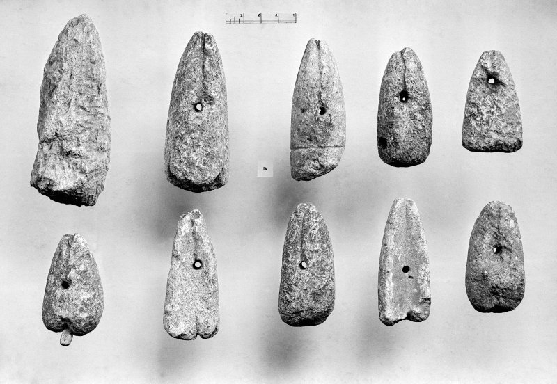 View of finds from the excavation of Jarlshof in 1949.