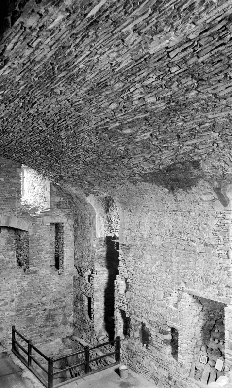 Interior. General view of fireplaces and windows.