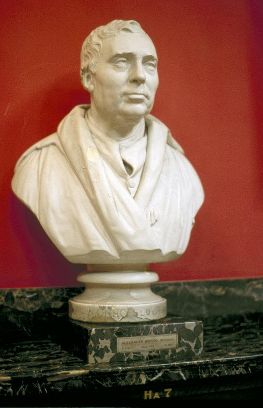 View of plaster bust of Alexander Monro secundus, in the Hall.