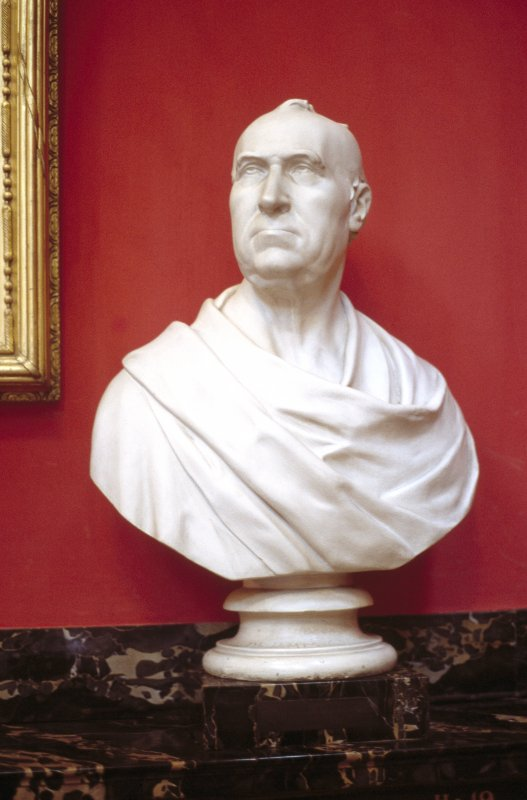 View of plaster bust of Dr James Gregory, in the Hall.