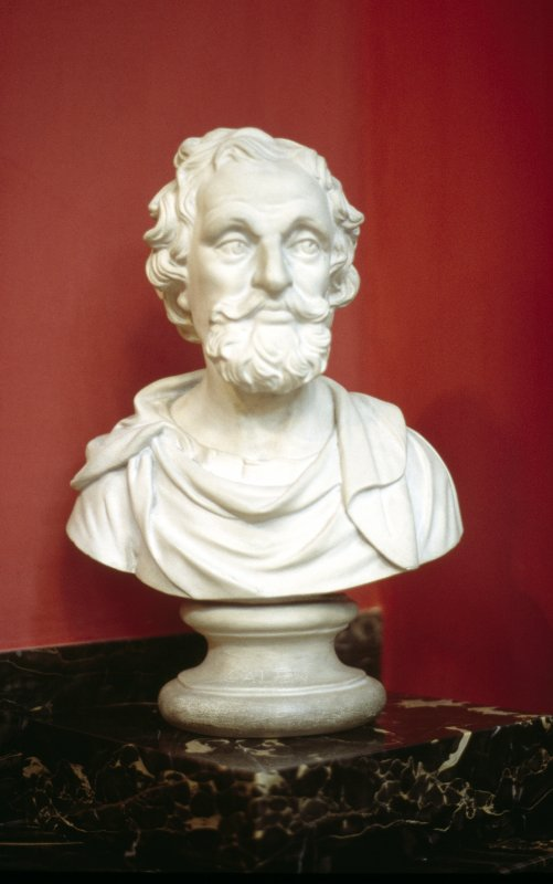 View of plaster bust of Galen, in the Hall.