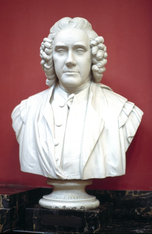View of plaster bust of Alexander Monro primus, in the Hall.