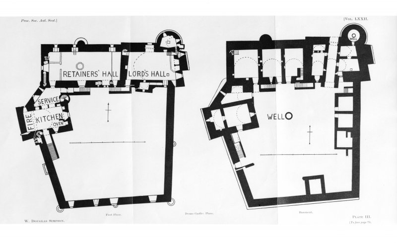 Photographic copy of drawing showing plans.