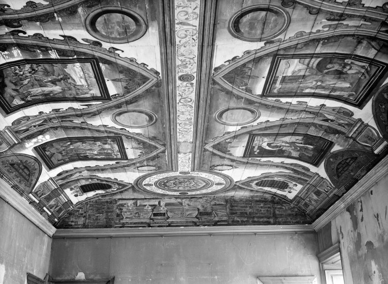 Interior. Detail of kings room ceiling.
