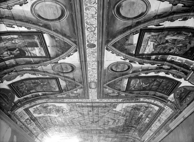 Interior. Detail of gallery ceiling.