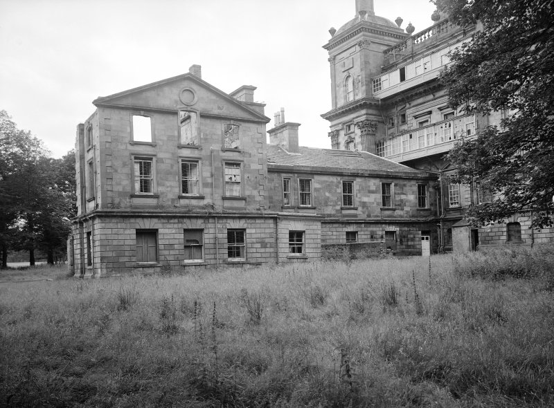 Copy of earlier photograph showing East wing from rear.