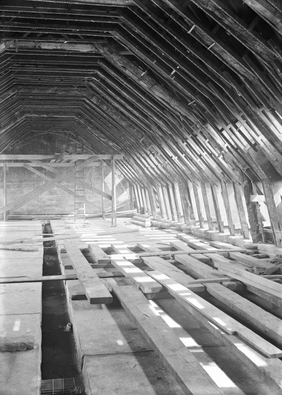 Interior. View of rafters.
