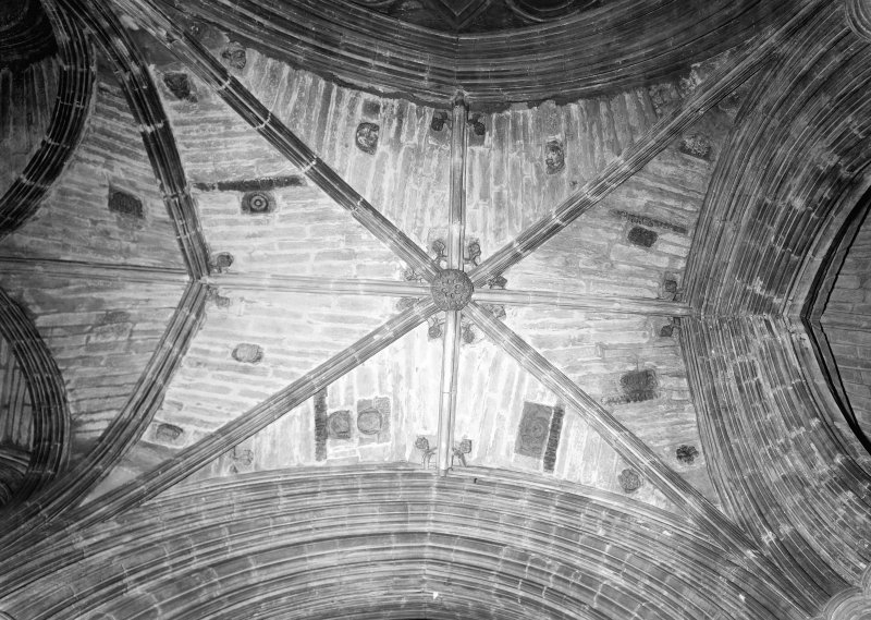 Interior. Plan view of vaulted ceiling, Upper Church.