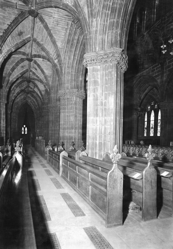 Interior. View along South transept.