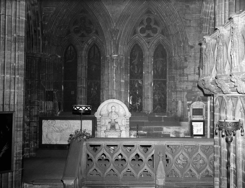 Interior. Distant view of bust of Sir James Watson.