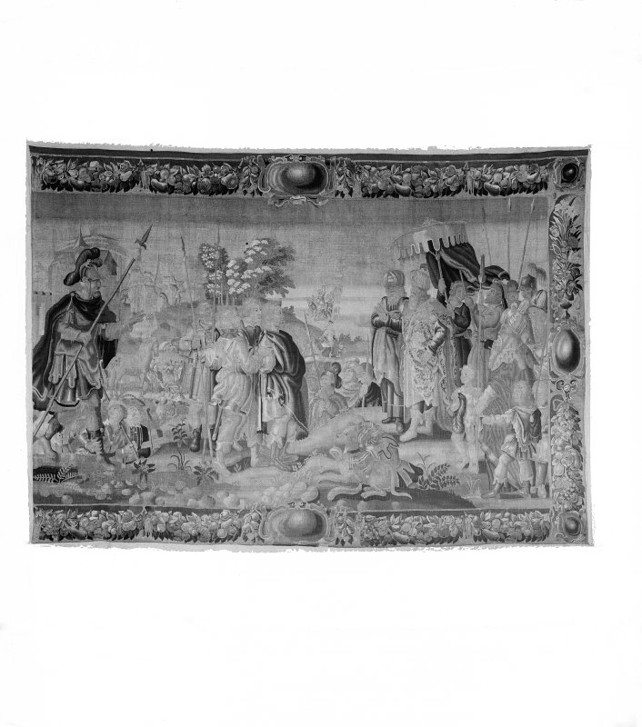 Interior-detail of one of the tapestries in Holyrood Palace