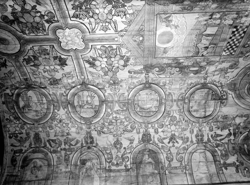 View of painted ceiling.