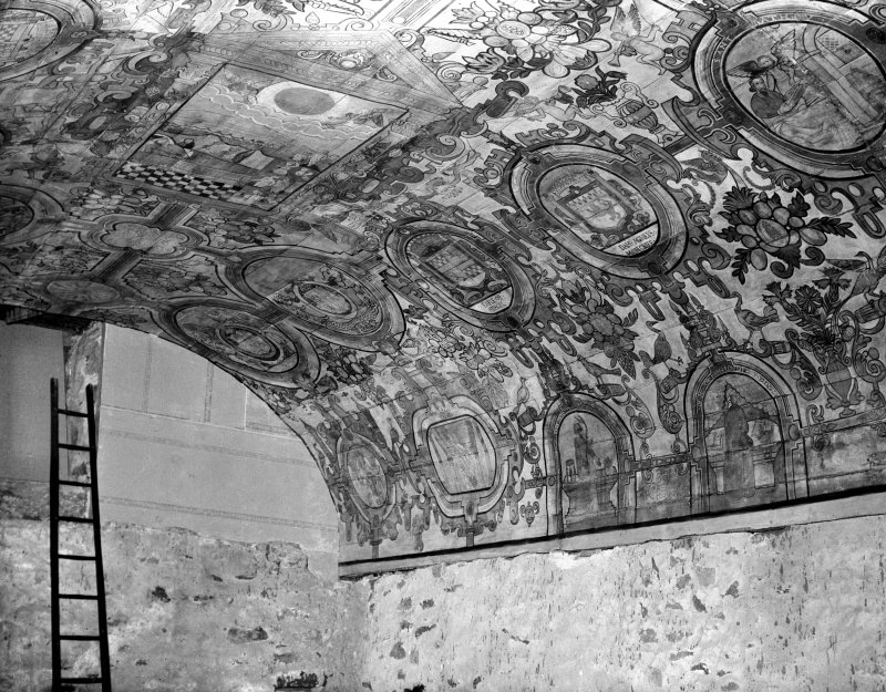 View of painted ceiling, St Mary's Church, Grandtully.