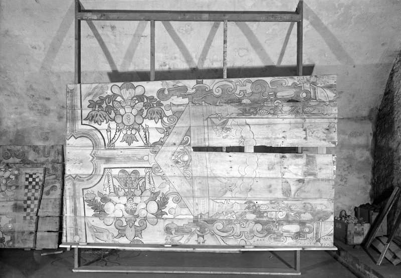 View of painted panel.