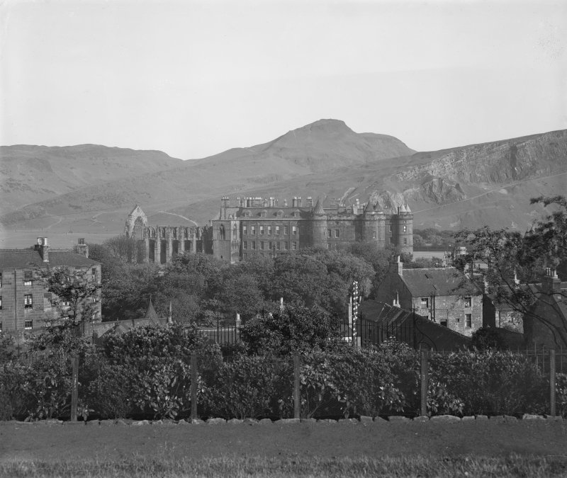 General view of Holyrood Palace and Abbey looking South