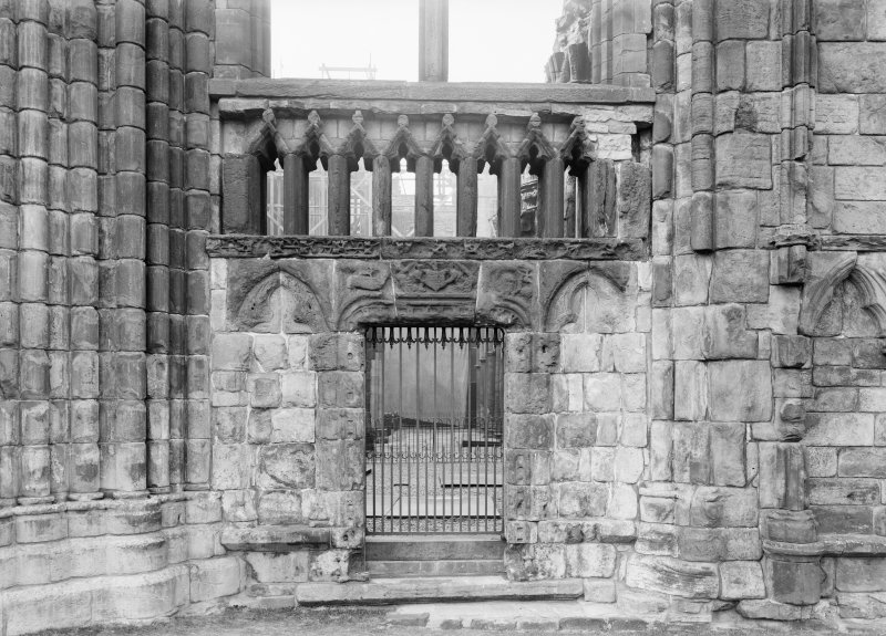 Detail of Abbot Crawford's screen in Holyrood Abbey