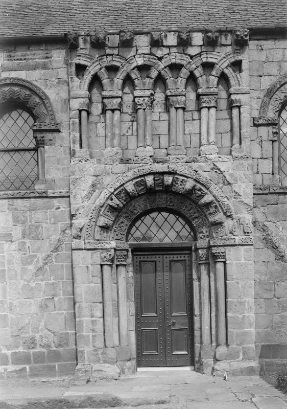 Dalmeny Parish Church Detail of door in South wall