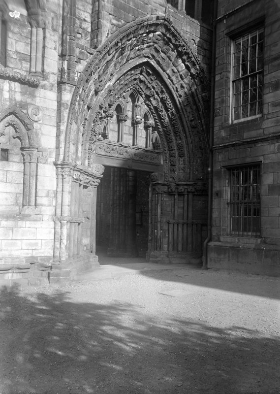 General view of West doorway of Holyrood Abbey