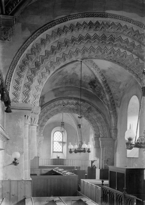 Dalmeny Parish Church, interior View of chancel and apse arches