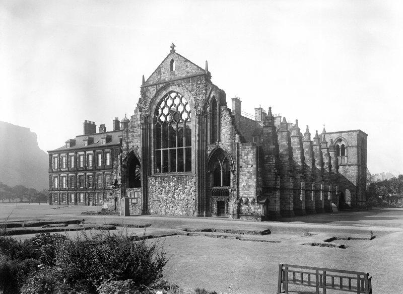 General view of Holyrood Abbey from East
