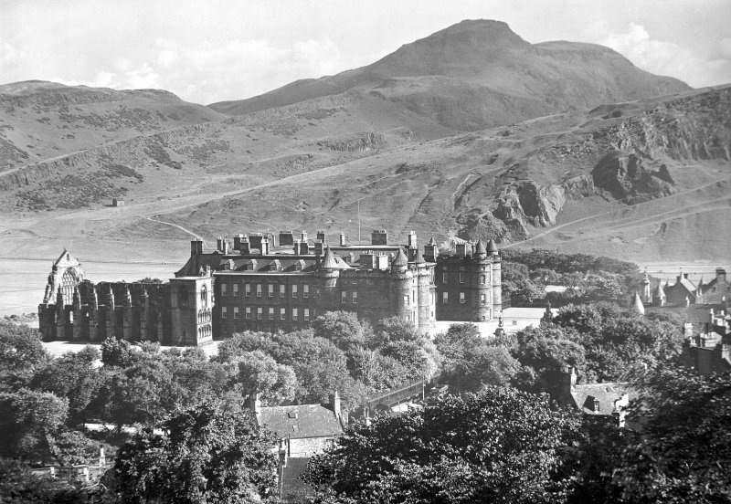 General view of Holyrood Palace and Abbey looking South.