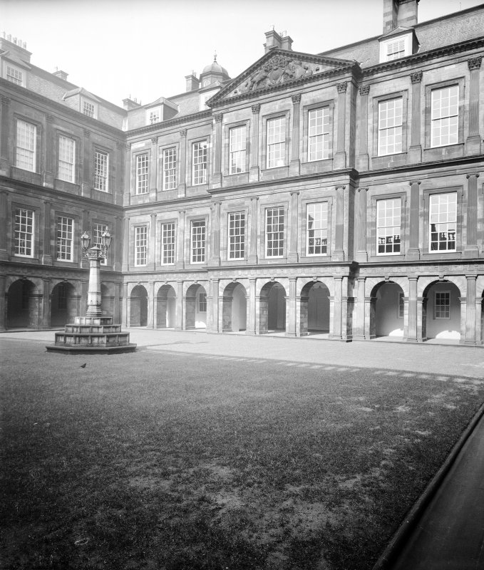 General view of courtyard at Holyrood Palace