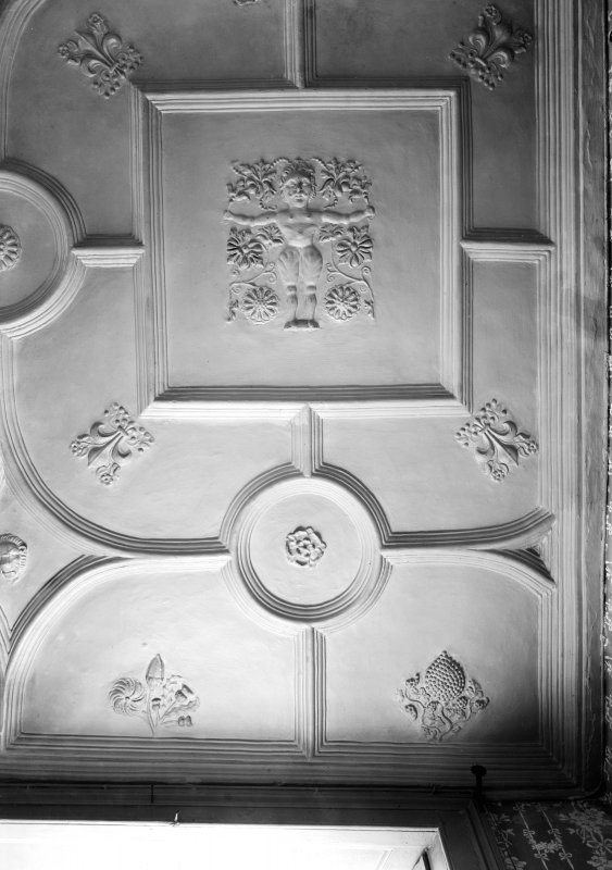 Interior-detail of plaster ceiling in Bedroom