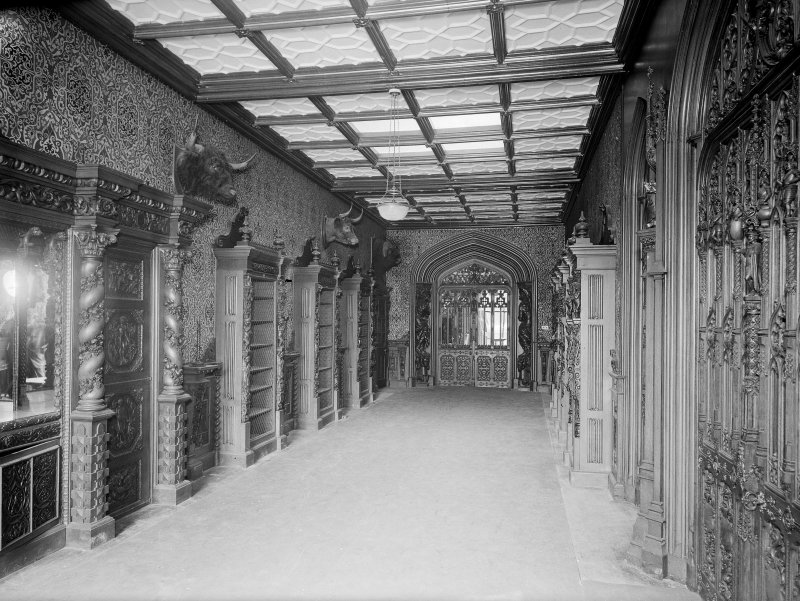 Taymouth Castle, interior. View of gallery.
