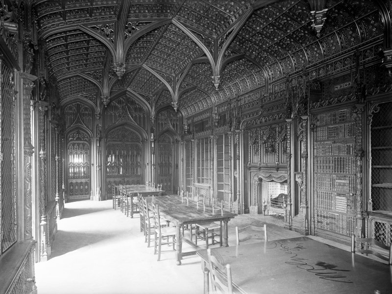 Taymouth Castle, interior. View of library looking North.