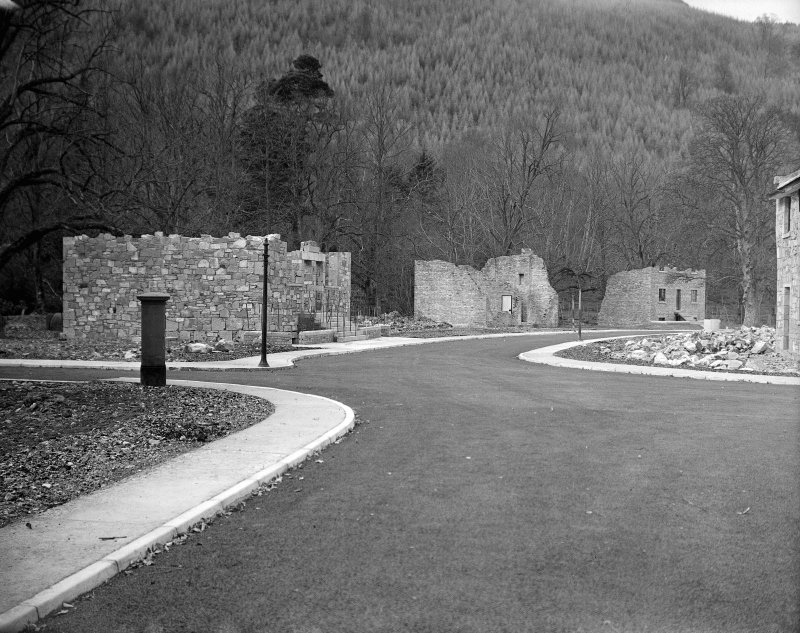 Taymouth Castle, Military Camp. View of training area - sets on West side of Town Street, reading left to right Basement Rescue, Floor Lifting, Basic Training.