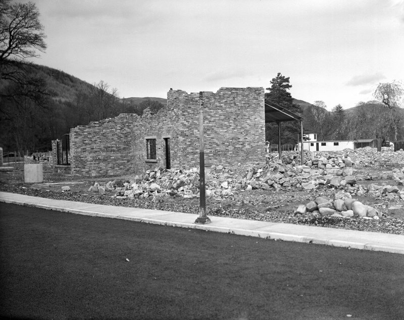 Taymouth Castle, Military Camp. View of training area detail of tunnelling with cleansing station in right background.