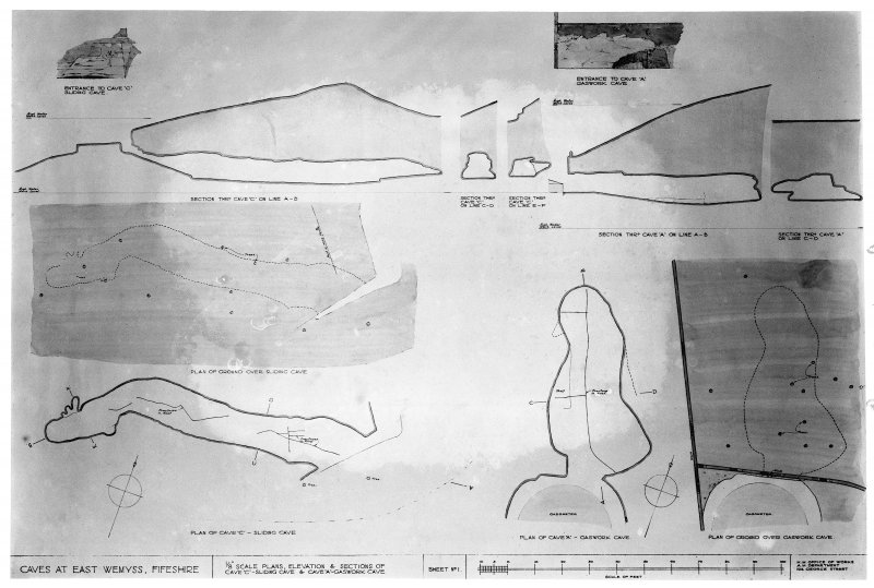 Plans, elevation and sections. FID/548/3.