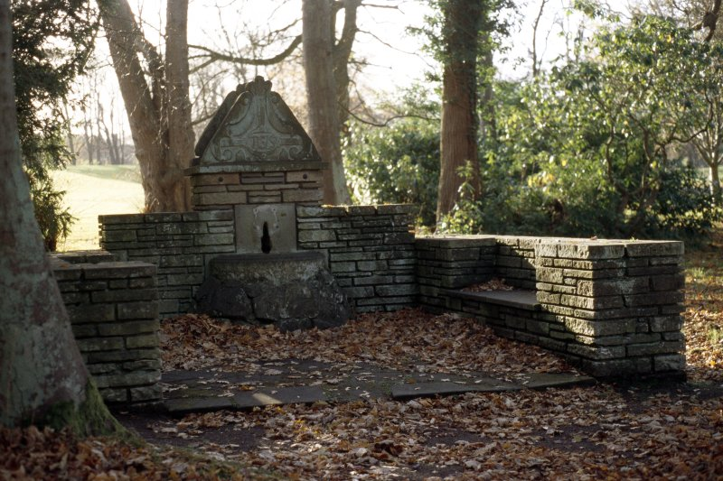 View of well in grounds of Lauriston Castle.