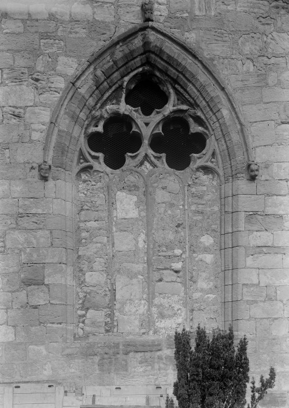 Detail of window in S transept.