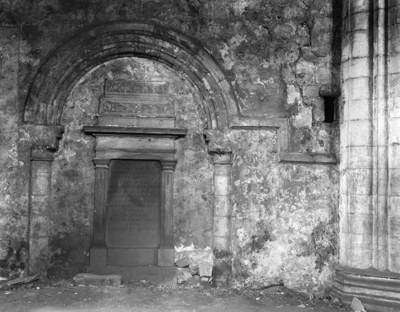 Torphichen Preceptory, old chancel arch from the crossing