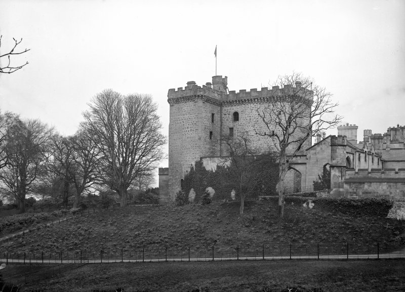 Dundas Castle View of old castle from South West.