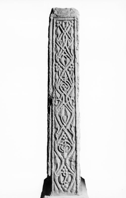 Detail showing vine pattern on cross shaft.