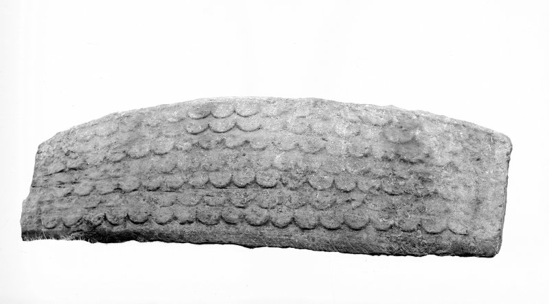 Detail showing hogback stone.