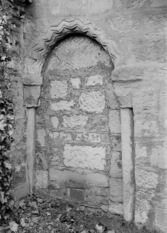 View of Norman doorway.