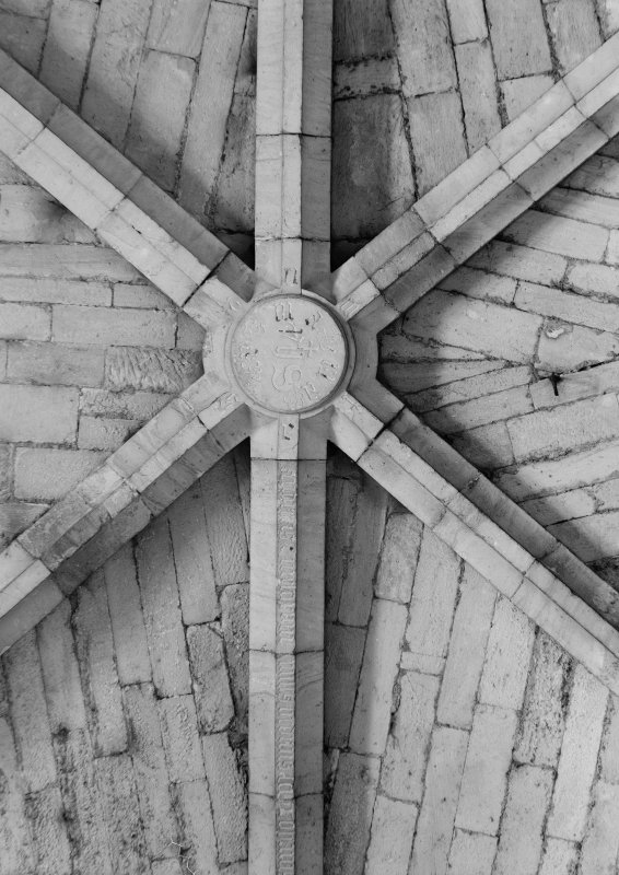 Interior. Detail of vault in N transept.