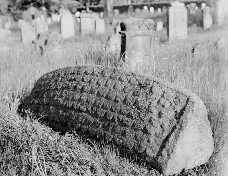 Detail of hogback stone.