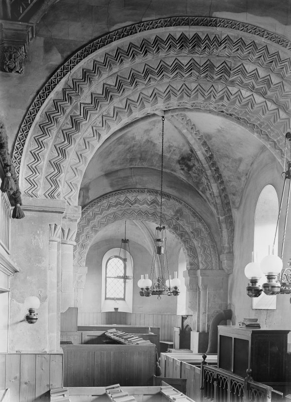 Dalmeny Parish Church, interior View to East
