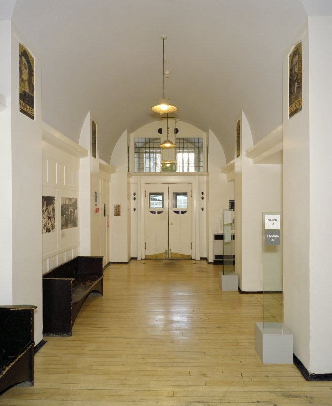 Interior.  Ground floor, entrance hall, view from S