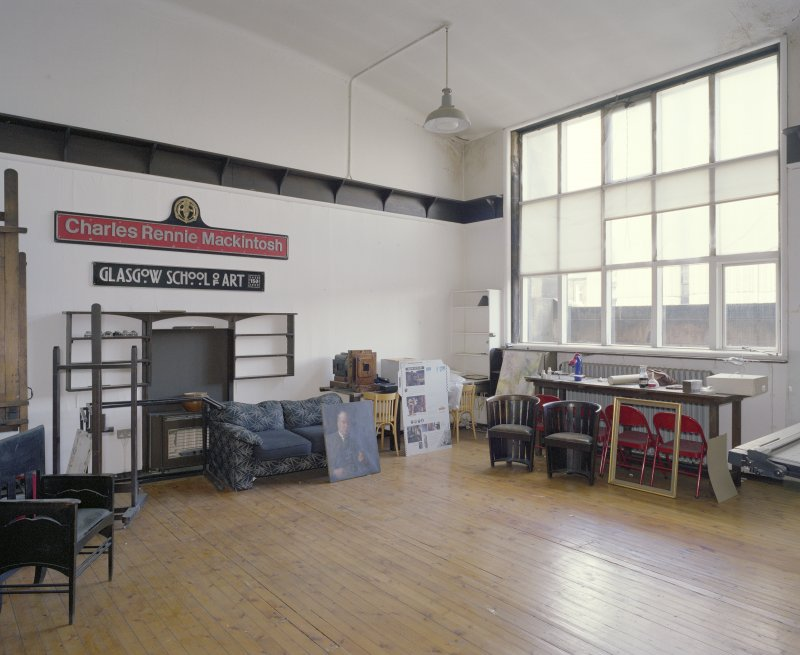 Interior.  2nd floor, Director's studio, view from SE