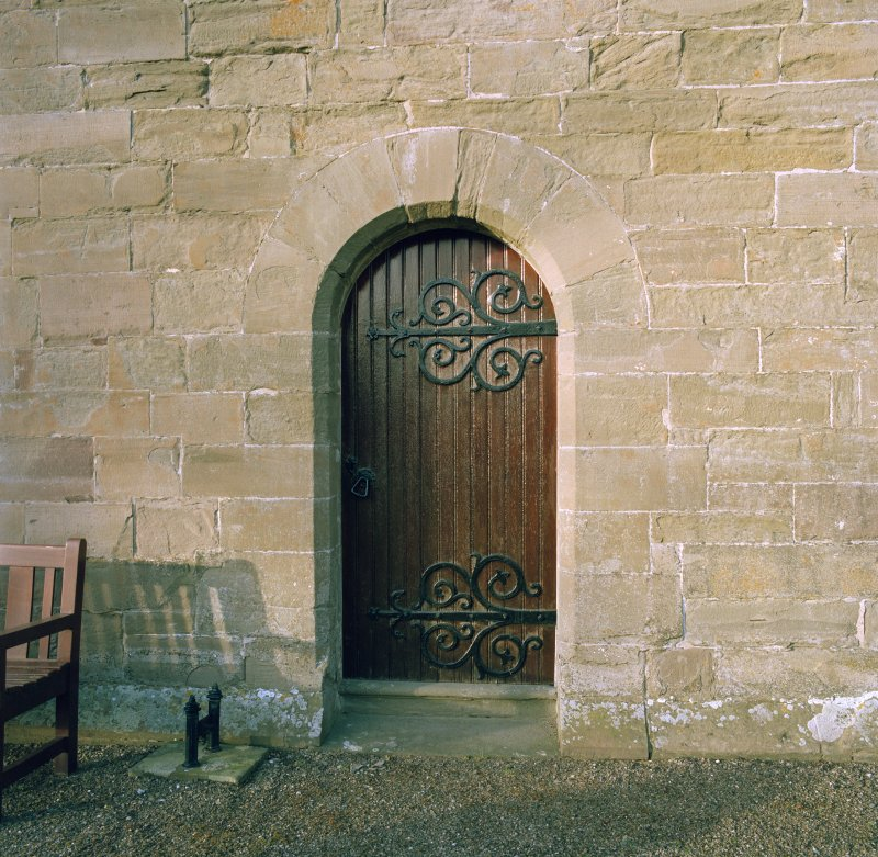 View of doorway on S wall.