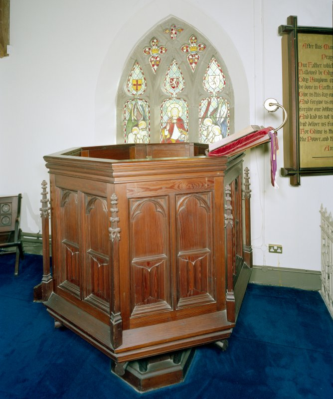 Interior. View of pulpit.