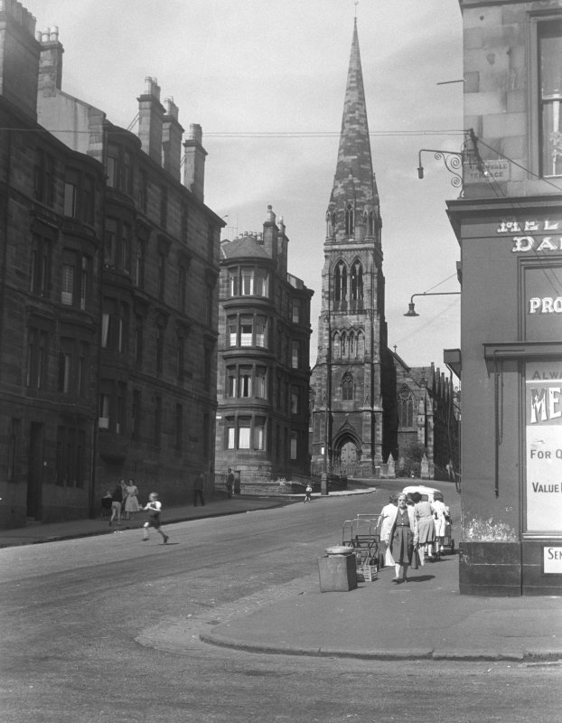 Glasgow, 93 Hyndland Street, Dowanhill Parish Church. General view from South-East.