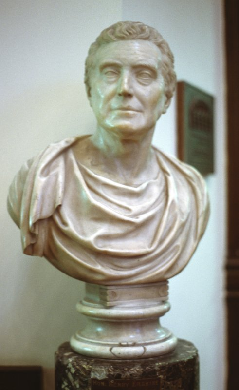 View of bust of Henry Erskine, in Parliament Hall.