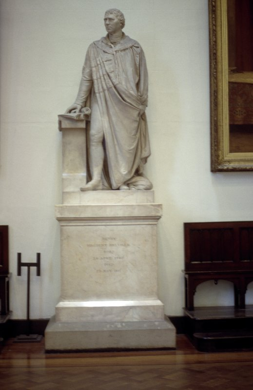 View of statue of Henry Dundas 1st Viscount Melville, in Parliament Hall.