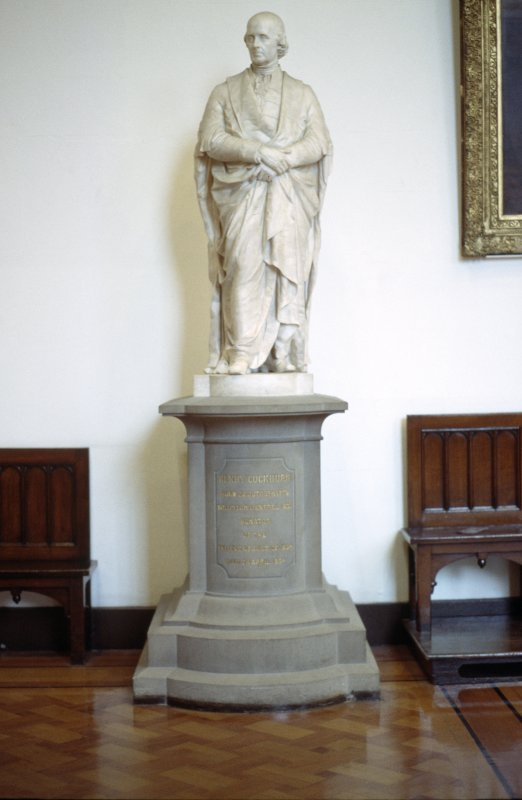 View of statue of Henry, Lord Cockburn, in Parliament Hall.